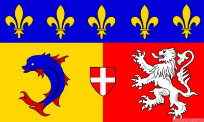 RHONE ALPES - 5 X 3 FLAG